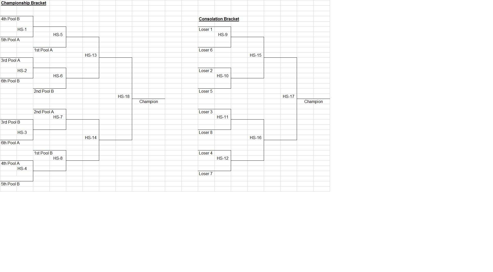 Total KAOS Tournament Schedule