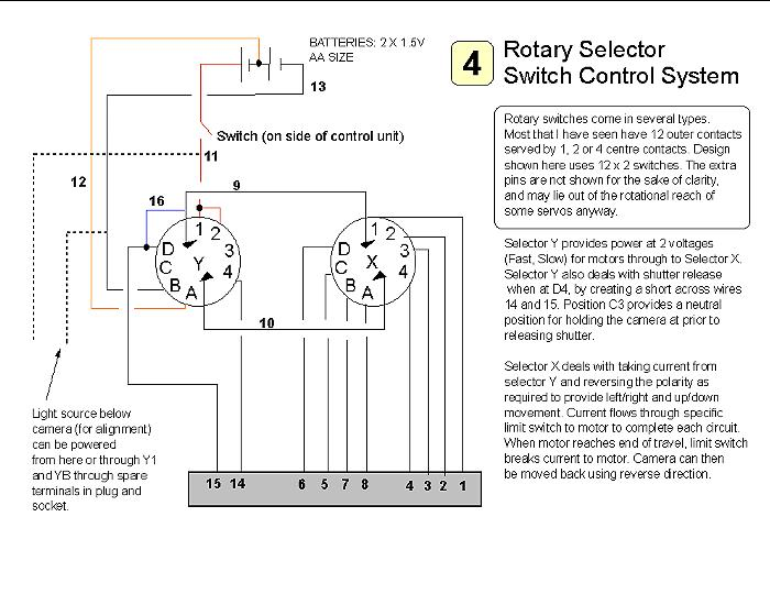 Rotary Switch Wiring Diagram & Combining DC127 Wiring On A Rotary