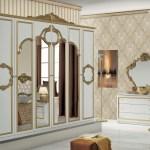 Schlafzimmer Set Barocco 7 Teilig In Weiss Gold 180x200 Cm Mit Schrank 6 Turig Bar S100 Wg 4