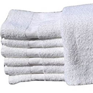 16x27 white hand towels