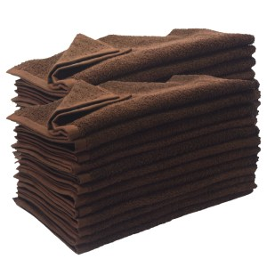 16 x 27 brown hand towel