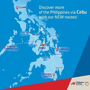 PAL flights from CEBU (source: PAL website)