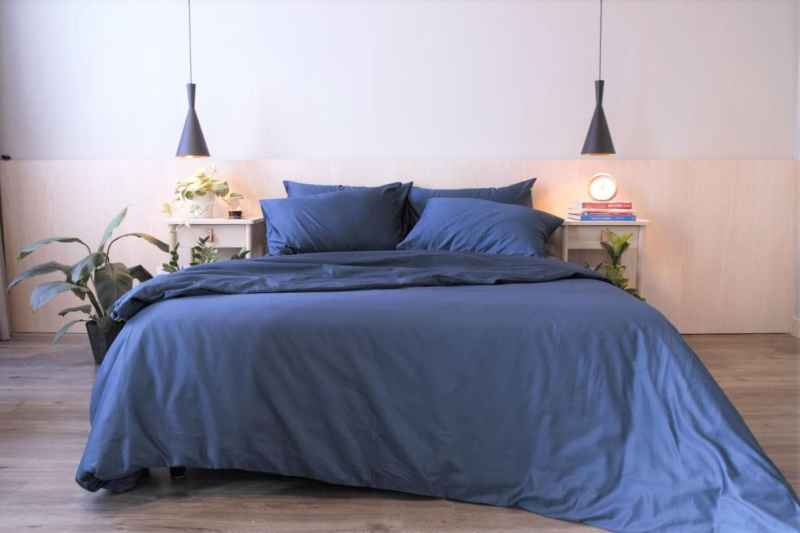 Navy blue bedsheets Malaysia