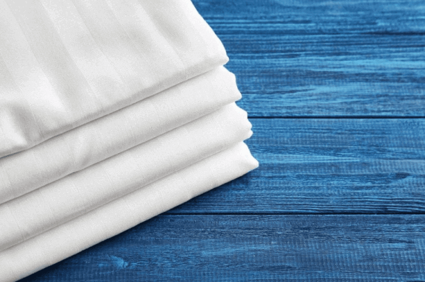 Keep folded bedsheet clean and safe