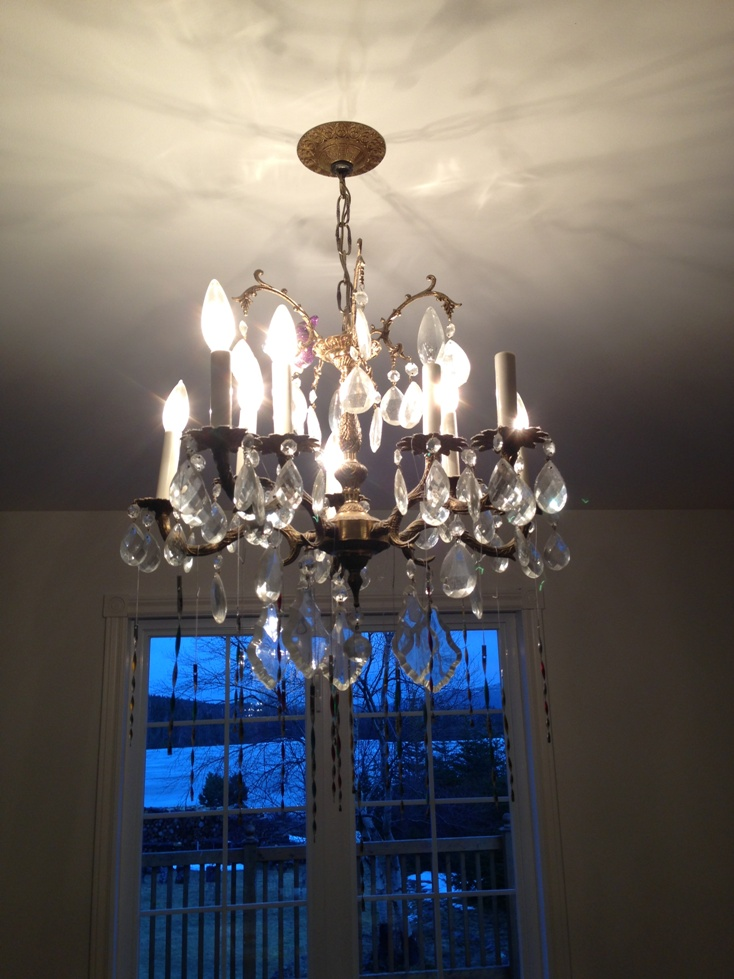187 Diy Cheap Amp Cheerful Chandelier Makeover