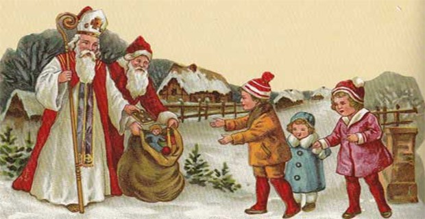 Mikulás és Télapó együtt osztják az ajándékot