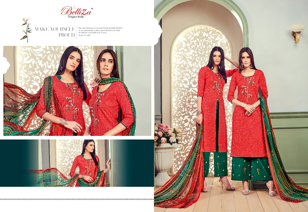 Belliza Designer Studio Nafisa Embroidered Cotton Salwar Kameez