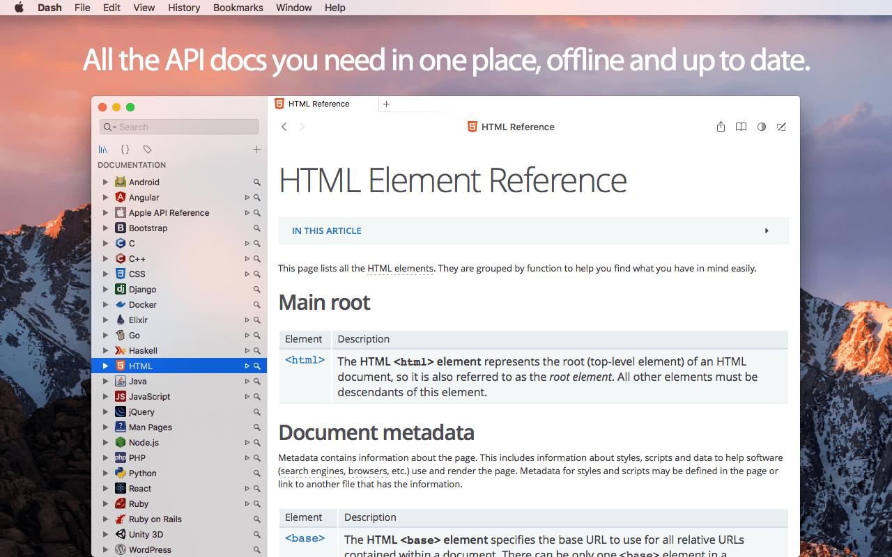 Dash 4.6.3 Mac 破解版 必备的API文档管理工具