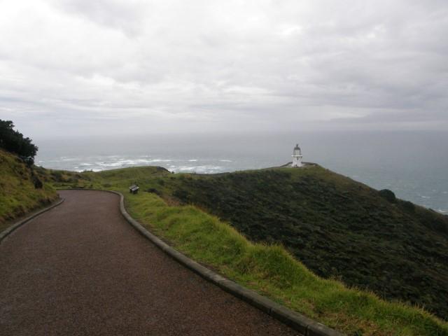 Cape Reinga in de regen