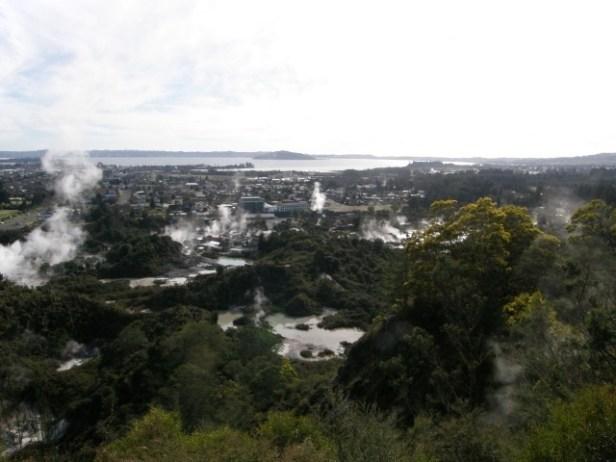 Uitzicht over Rotarua, Noordereiland
