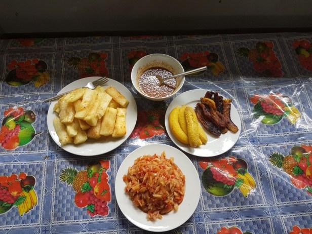 Onze lunch in Kalebaskreek