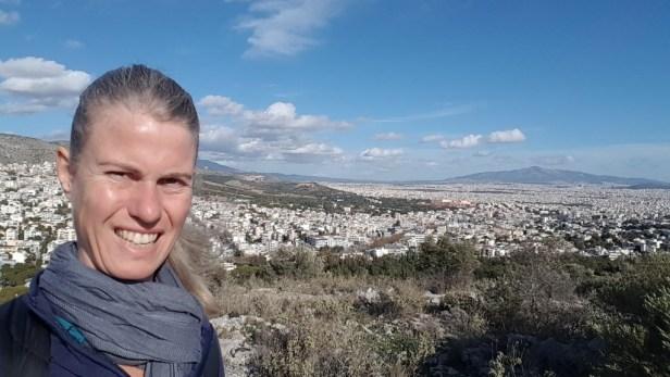 Athene uitzicht botanische tuin