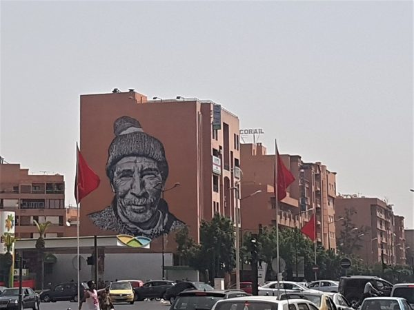 verkeer Marrakesh streetart