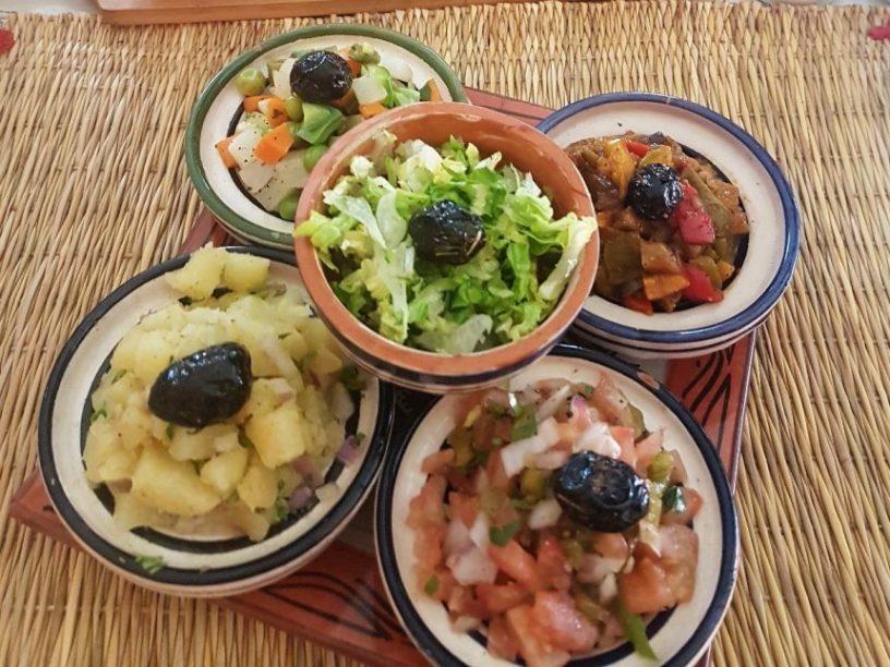 Marokko eten salade