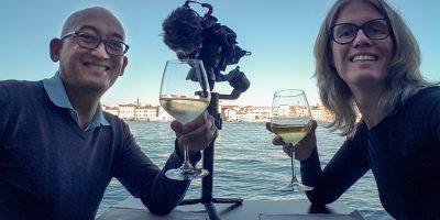 Glas wijn op Giudecca