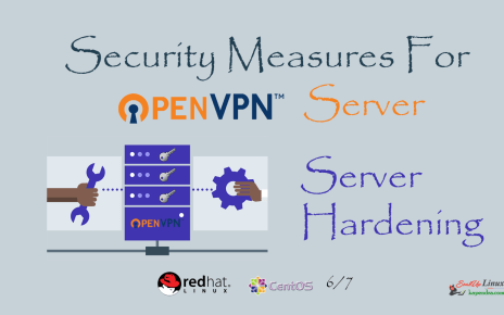 Security Measures For OpenVPN Server and Security Hardening