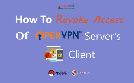 How To Remove/Revoke OpenVPN Server's Clients From OpenVPN Server On RHEL/CentOS 6/7