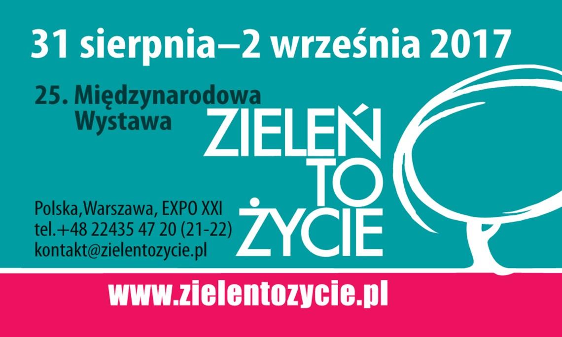 Zieleń to Życie – zapraszamy do Warszawy 31.08.-2.09.