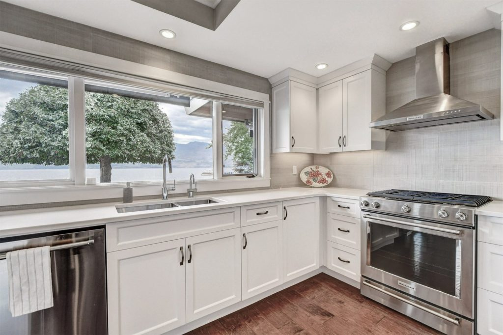 kitchen facelift organization ideas on the lake in west kelowna kapiti built wide angle kitchen2