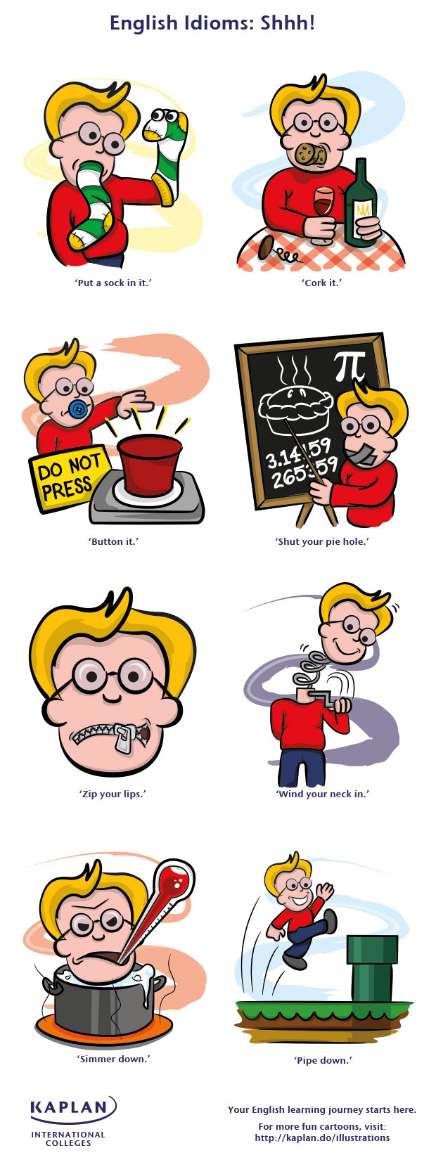 shhh! english idioms