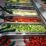 Vegetables at salad bar