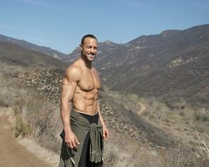 Gabe hiking outside
