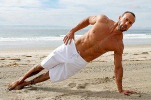 Gabe Kapler doing a side plank