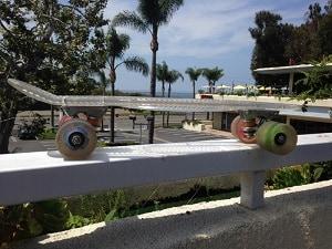 Skateboard in Malibu