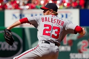 Collin Balester pitching