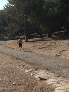 Gabe Kapler sprinting uphill