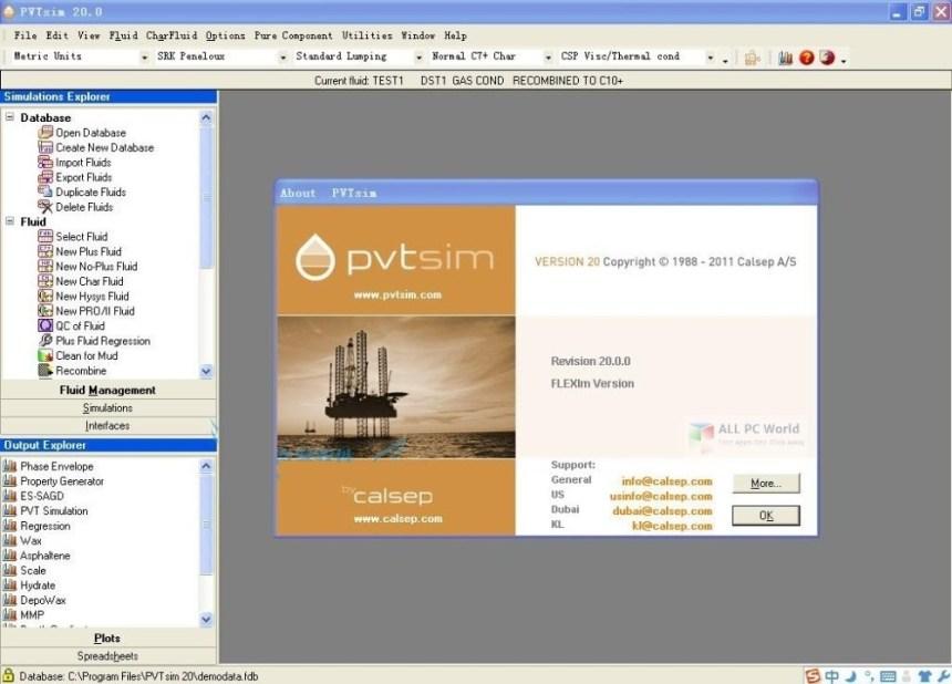 Calsep PVTsim 20.0