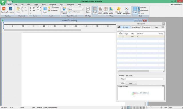 Descargar Final Draft 11.1.2 Build 77 gratis