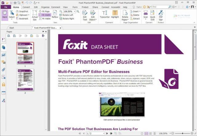 Descargar Foxit PhantomPDF Business 10.0 gratis