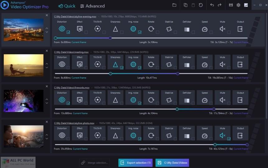 Descarga gratuita de Ashampoo Video Optimizer Pro