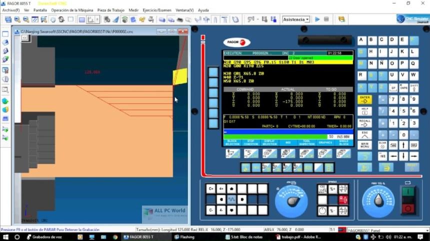 Simulador CNC 7.2 de Nanjing Swansoft