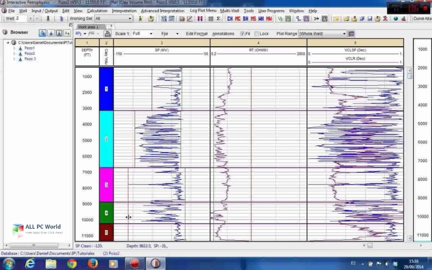 Petrofísica interactiva Senergy 4.2