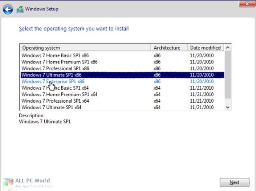 Windows 7 AIO octubre de 2018
