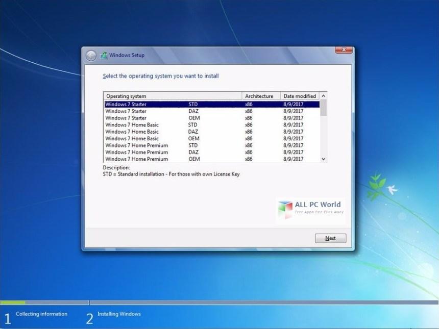 Descargar Windows 7 SP1 AIO OEM agosto de 2017 gratis