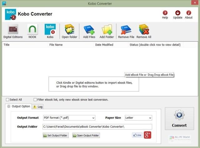 Descarga gratuita de Kobo Converter 3.2