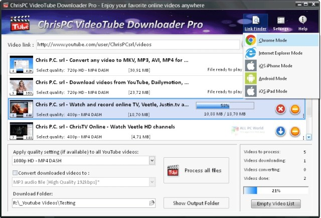 ChrisPC VideoTube Downloader Pro 12.13 Enlace de descarga directa