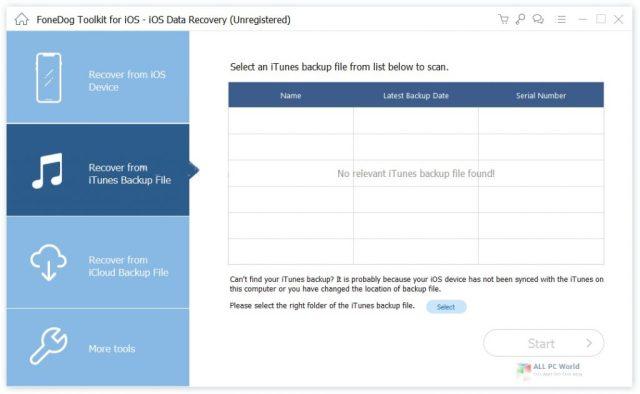 Descarga gratuita de FoneDog Toolkit para iOS 2.1