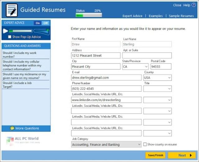 Enlace de descarga directa ResumeMaker Professional Deluxe 20.1.2