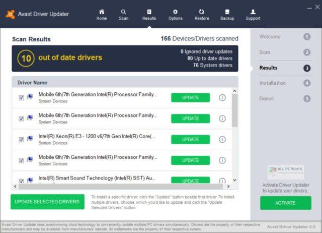 Descarga de un clic de Avast Driver Updater 2.5