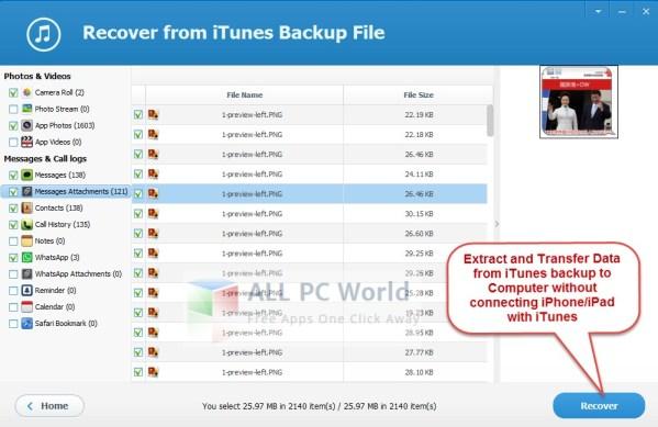 Revisión del extractor de copia de seguridad de Jihosoft iTunes