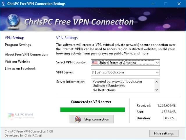 ChrisPC Free VPN Connection 2.08 Descarga con un clic