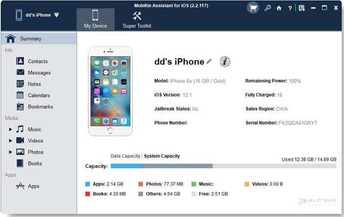 Descargar MobiKin Assistant para iOS 2.7