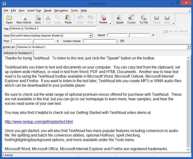 Descarga gratuita de NextUp TextAloud 4.0