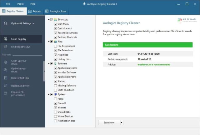Auslogics Registry Cleaner Professional 9.0 Descarga gratuita