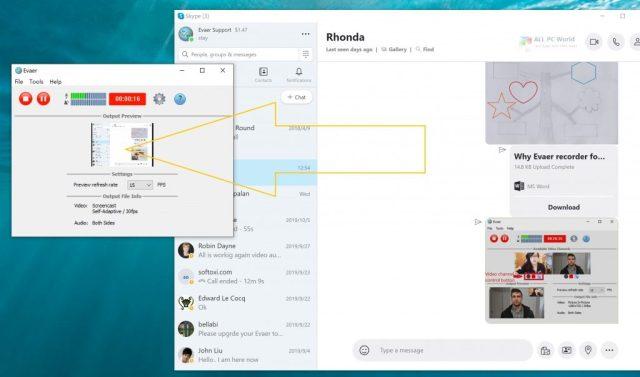 Descarga de la versión completa de Evaer Skype video call recorder 2020