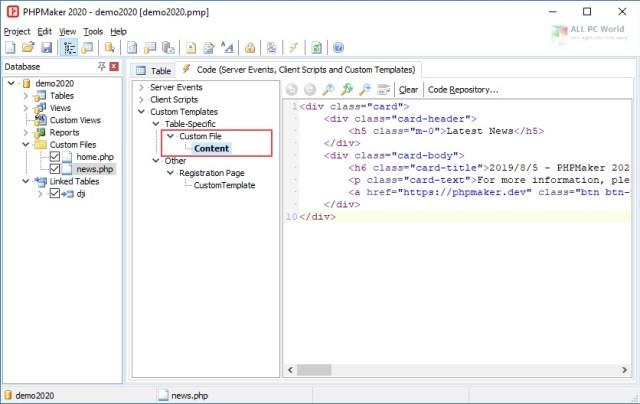 e-World Tech PHPMaker 2021 Descargar